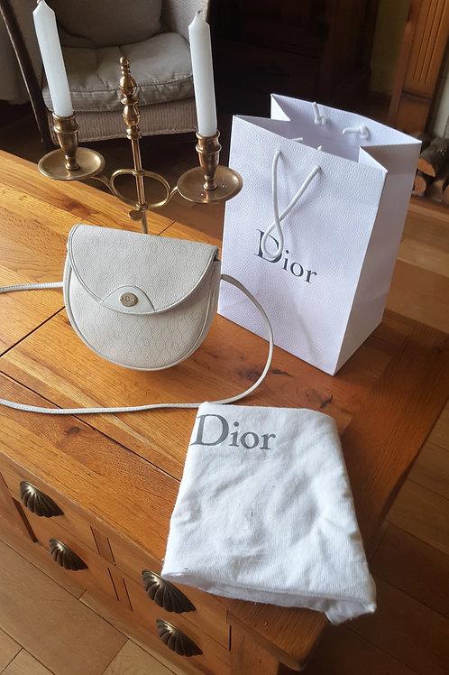 Christian Dior Vintage  Signature white Cross Body Bag