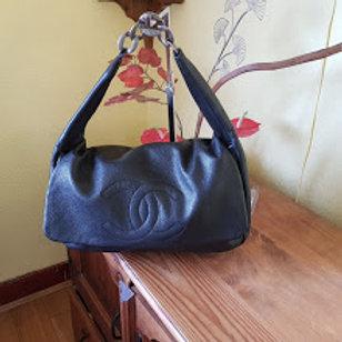 CHANEL Classic Flap Caviar 31 Black Leather Hobo Bag