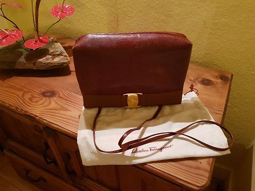 FERRAGAMO VARA BOW CLUTCH BAG NEW     SOLD