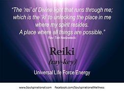 Reiki is a divine ray of light that unlocks the internal door