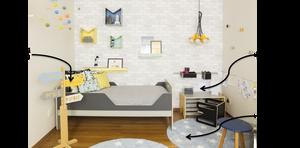 Exemplo de mobiliário em dormitório na segunda fase