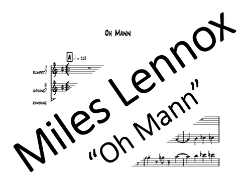 """Oh Mann"" PDF Score & Parts"