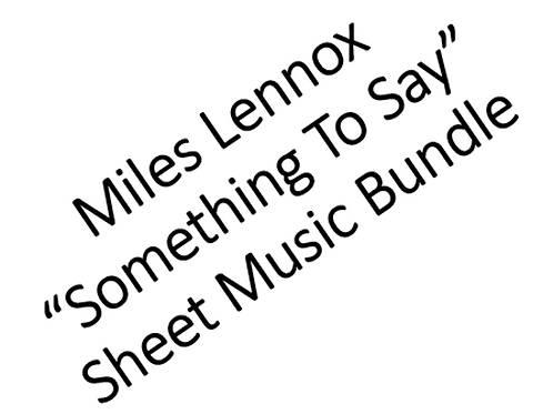 """Something To Say"" PDF Full Album Sheet Music Bundle (11 songs)"