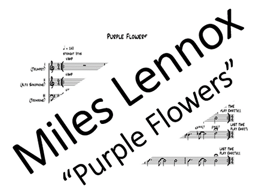 """Purple Flowers"" PDF Score & Parts"