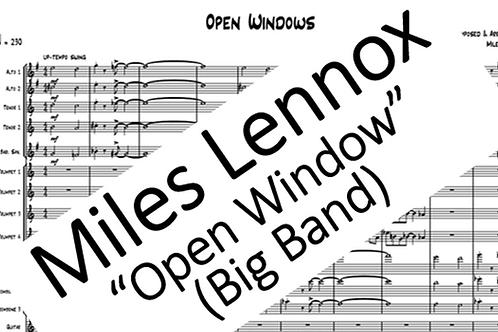 """Open Windows"" (Big Band) PDF Full Score + Parts"