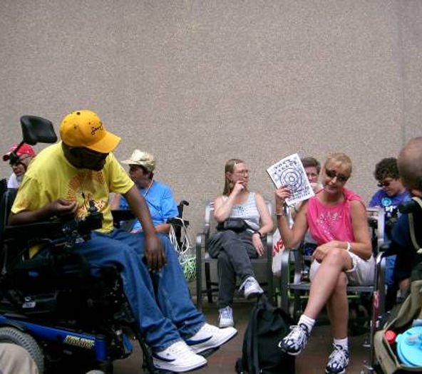 08-29-2005 Doris, Darla and Tammy at Rally.jpg