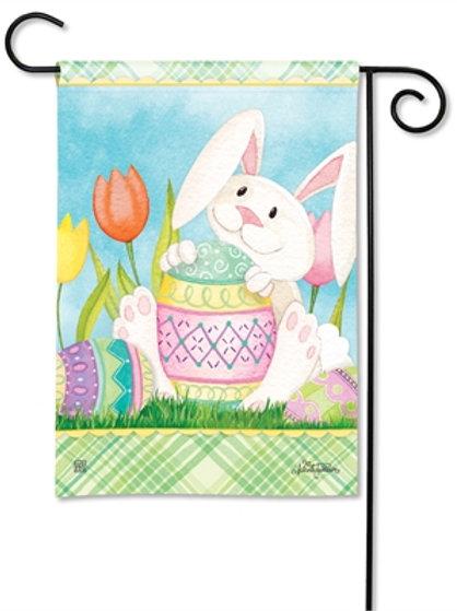 Easter Bunny's Here Garden Flag