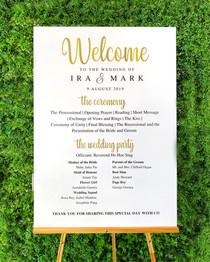 Wedding Programme Board