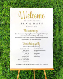 Wedding Programme Board