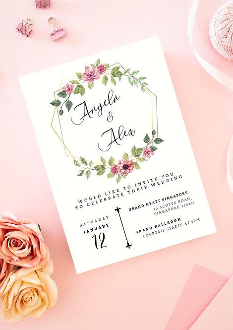 Invitation: Geometric Romance