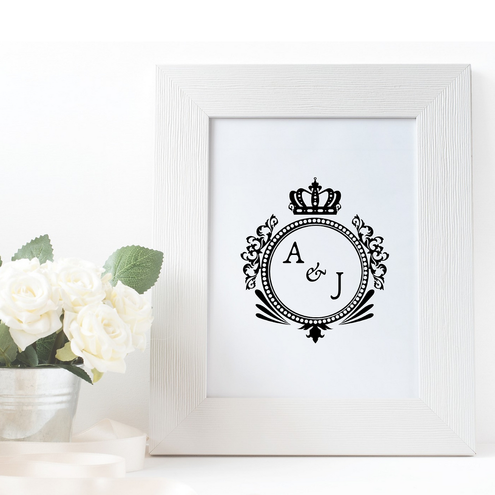 Make a wedding statement with your very own couple monogram!