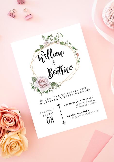 Invitation: Vintage Rose