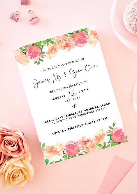 Invitation: Blush & Peaches
