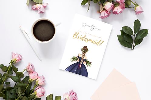 Bridesmaids Proposal - Cranberry
