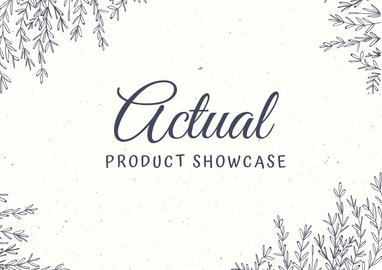 Actual Product Showcase
