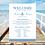 Thumbnail: Wedding Programme Board - Nautical