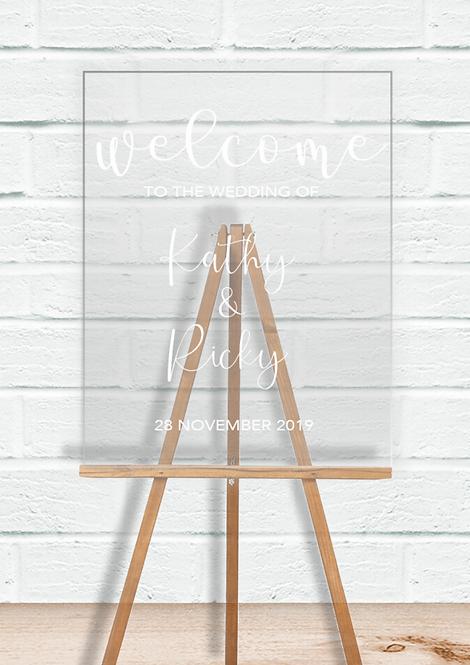 Acrylic Signage - Kathy