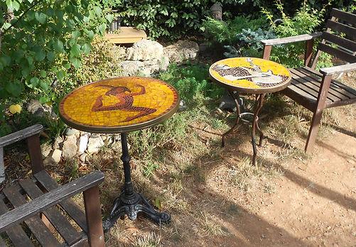 Table de bar en mosaïque Sylvie Lance