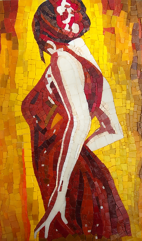 Danseuse flamenco mosaïque