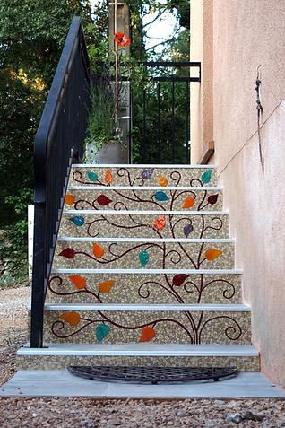 Escalier en mosaïque
