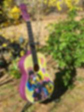 Guitare en mosaique Hendrix