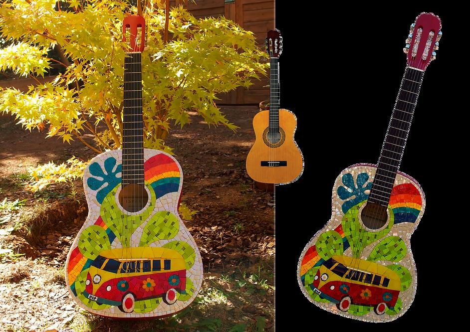 guitare en mosaïque