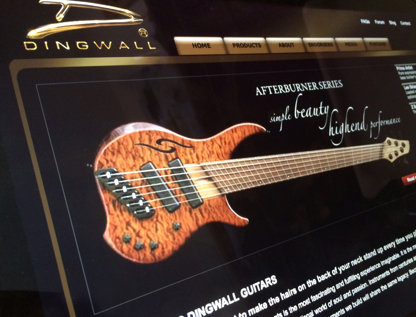 Dingwall Guitars website