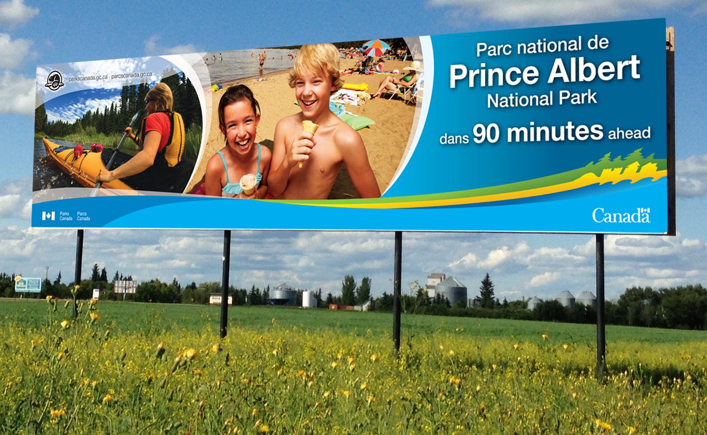 Parks Canada PANP billboard