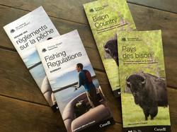 Parks Canada brochures
