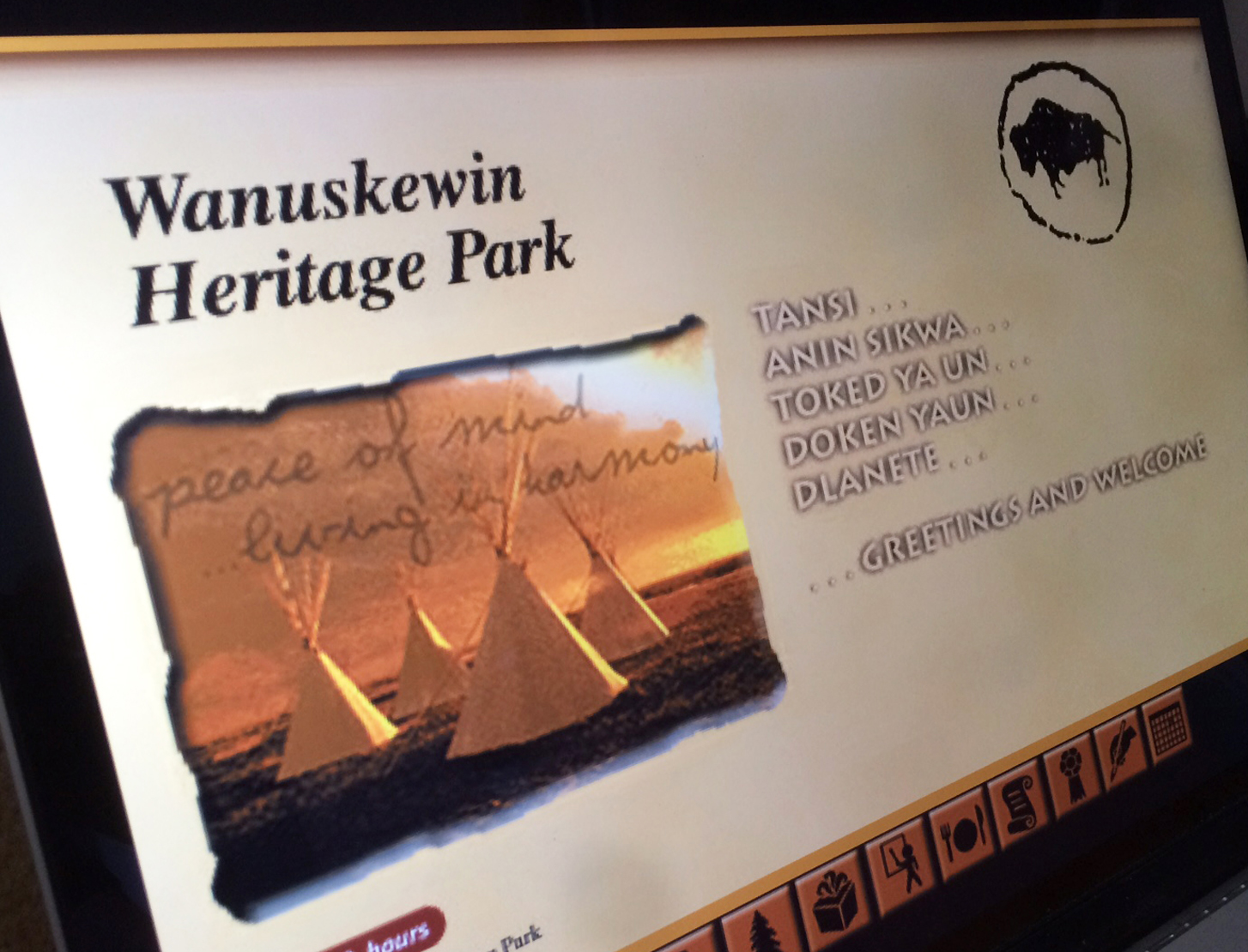 Wanuskewin website