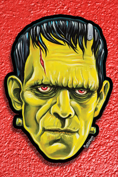 Karloff's Frankenstein Monster sticker