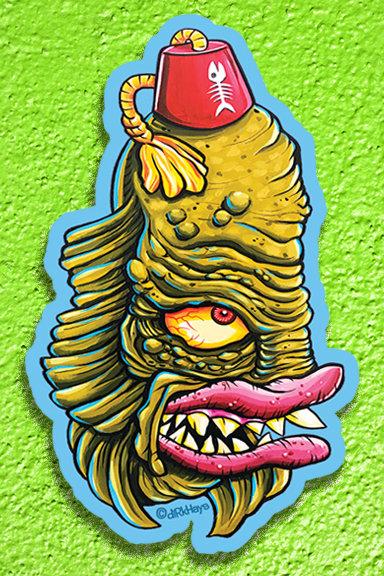 Fez Creature sticker