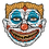 Thumbnail: Demented Coney Clown Sticker