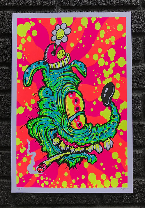 Dopey Dawg Blacklight Print