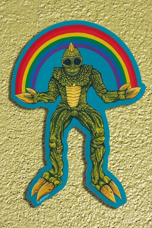 Sleestak Rainbow sticker