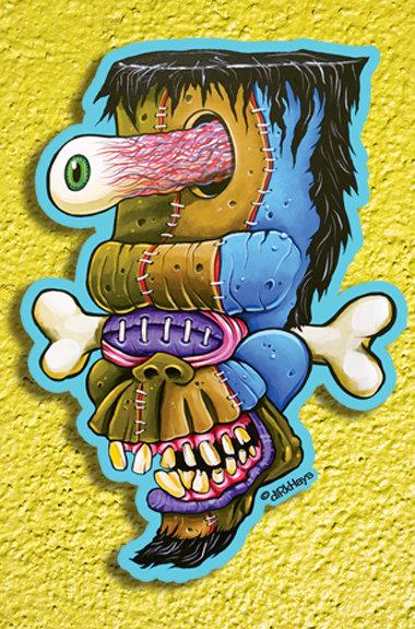 Stiched Up Cyclops/Frankenstein Monster sticker