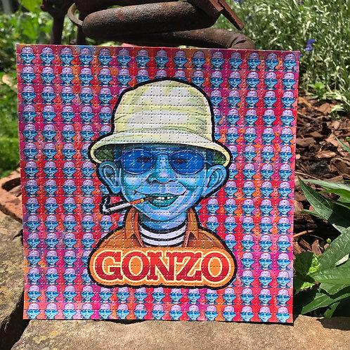 Blue Gonzo Variant Blotter Art