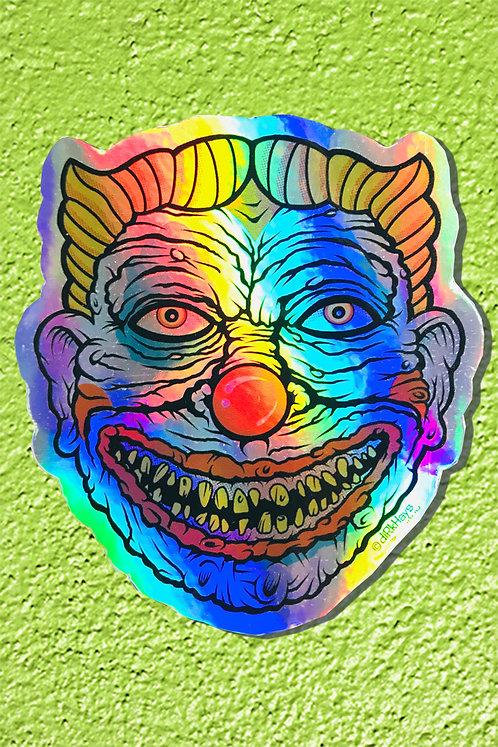 Demented Coney Clown Sticker