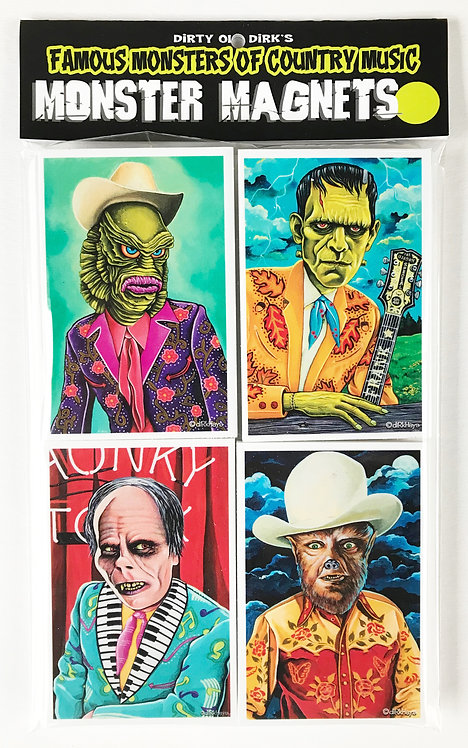 Famous Monsters of Country Music magnet set