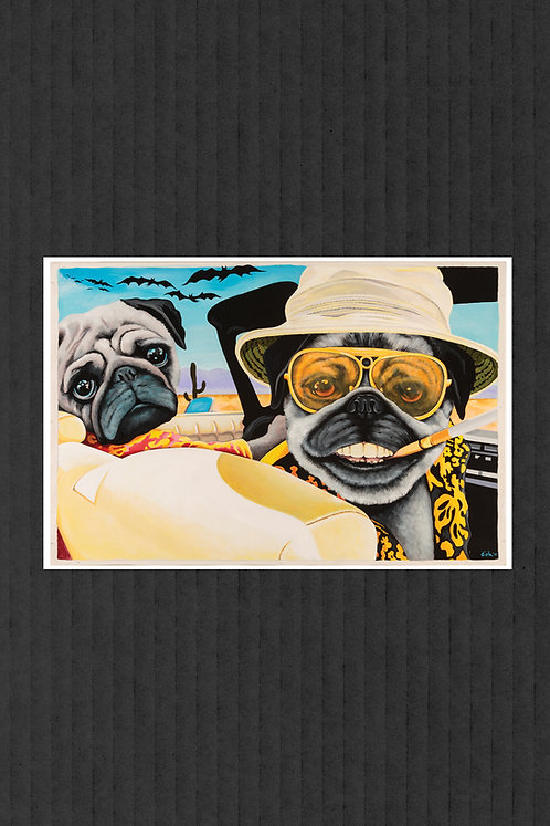 Pugs and Loathing print