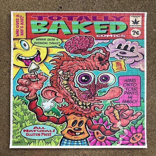 Totally Baked Comic Blotter Art