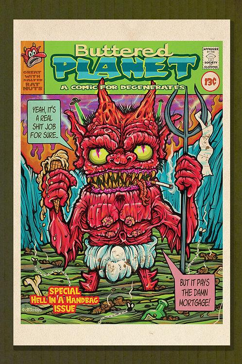 Buttered Planet Comics Print
