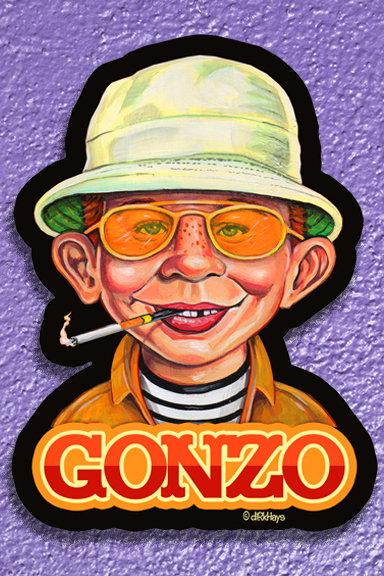 Gonzo-Alfred E. Neuman/ Hunter S. Thompson sticker