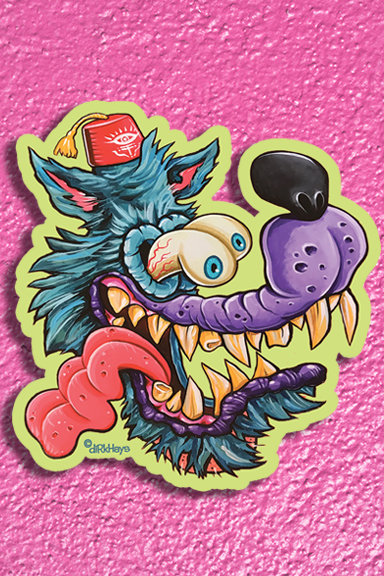 Weirdo Wolf sticker