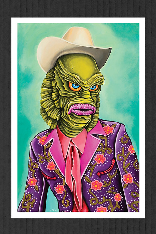 Creature From The Black Saloon print