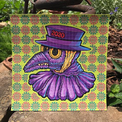 Plague Doctor Blotter Art