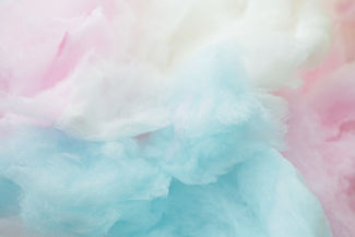 colorful cotton candy in soft color for