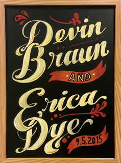 Braun Wedding Sign