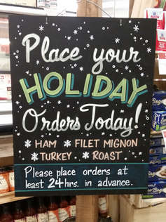 Holiday Meat Orders
