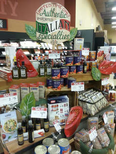 Authentic Italian Specialties Display